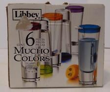 NIB SET OF 6  LIBBEY 2 OZ MULTI COLOR HAND PAINTED SHOT GLASSES