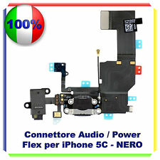 FLEX CARICA RICARICA DOCK MICROFONO AUDIO Per  IPHONE 5C Flex NERO RICAMBIO