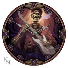 Nemesis Now - Dead Groovy Clock by James Ryman, rock music skeleton gift 34cm