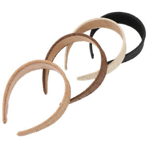4Pcs Raffia Hair Hoops Simple Headdresses for Trip Daily Life Women Party