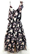 Xhilaration Women's Black Floral Capri Jumpsuit Romper Sleeveless SZ XSmall NWT