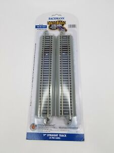 """Bachmann E-Z Track 44511 9"""" Straight Track HO Scale  Nickel Silver 4 Pieces  New"""