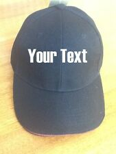 3 X Navy Blue Caps FREE text embroidery Customised workwear ourdoor sports