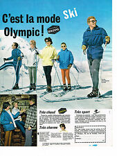 PUBLICITE ADVERTISING 014    1962   OLYMPIC  vetements de ski