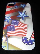American Flag Hard Cover Case for iPhone 4 4s 4th of July Flags & Stars Red Whit