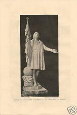 1892 Christopher Columbus comprehensive vintage magazine article