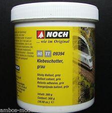 (21,97€/kg) NOCH 09394 Klebeschotter grau, H0 - TT, 300 g,  Neu