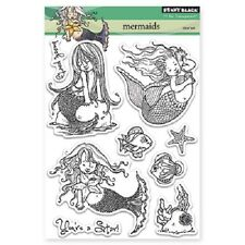 PENNY BLACK RUBBER STAMPS CLEAR MERMAIDS NEW clear STAMP SET