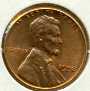 1958-P LINCOLN CENT, GEM BRILLIANT UNCIRCULATED RED, GREAT PRICE!