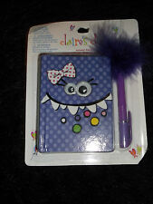 new silly polka dot monster fancy journal mini scented diary  fuzzy pen