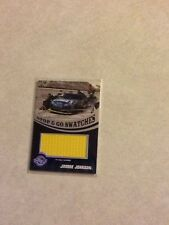 Jimmie Johnson Lowe's Wheels Authentic stop and go swatches pit wall banner card