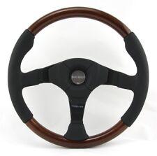 Momo Holz Mahagoni Sportlenkrad Dark Fighter 350mm braun schwarz steering wheel