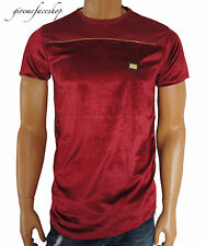 Time is Money g zip, velour club t shirts, mens hiphop star tees bling, burgundy