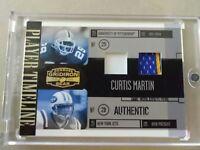 2006 Curtis Martin Donruss Gridiron Dual Jersey / Player Timeline Card  22/50