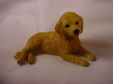 Goldendoodle Dog Hand Painted Figurine Resin Statue Golden Doodle Puppy New