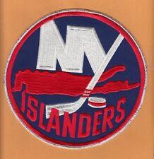 OLD 1970s NEW YORK ISLANDERS 7 3/4 inch LARGE JERSEY JACKET PATCH UNUSED VINTAGE