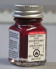 TESTORS PAINT MAROON GLOSSY ENAMEL 1/4oz 7.4ml plastic model car gloss NEW 1186
