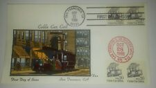 VAN NATTA CABLE CAR COIL HAND PAINTED HP FIRST DAY COVER FDC