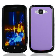 For Samsung Focus 2 i667 TPU Gel GUMMY Hard Skin Case Phone Cover Purple Black