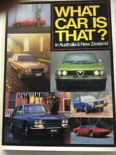 What Car is That? In Australia & New Zealand, Boyce (HB 1981) 1st Edition, GC