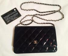 Chanel HandBag Natural Leather Black Women Crossbody Chanel Authentic