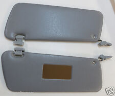 PAIR OF NEW SUN VISORS FITS MERCEDES SL W107 GREY WITH MIRROR & CLIPS
