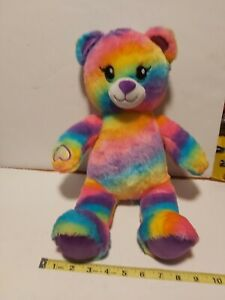 "Build-A-Bear Rainbow Psychedelic TEDDY BEAR, 17"",Tie Dye Multi-Color Stuffed"