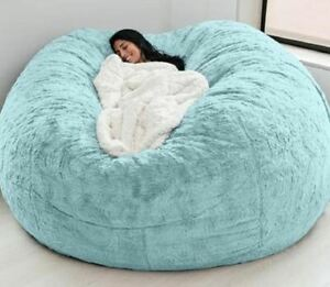 Giant fur bean bag room Round Soft Sofa Microsuede Cover -no fill- FAST SHIPPING
