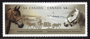 2009 Canada SC# 2330i - Canadian Horses- die cut pair from booklet M-NH
