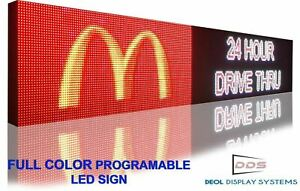 """24"""" x 50"""" FULL COLOR BILLBOARD BUSINESS DISPLAY PROGRAMMABLE LED SIGNS"""
