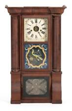Forestville Manufacturing Co. Empire Eight-Day Clock With ogee corni. Lot 1291