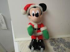 Vtg. 2000 Fischer Price / Mattel Walt Disney's Mickey Mouse in Santa Outfit,Skis