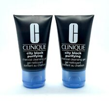 Lot/2 Clinique City Block Purifying Cleansing Gel ~ 1 oz ~