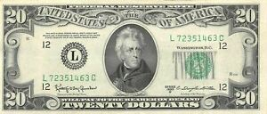USA  $20  Series of 1950 D  P 440d No Motto on the back  Circulated Banknote X22