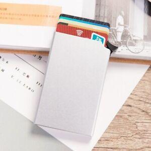 De Billetera Portatarjetas Con Seguridad Metal Bloqueo Rfid Anti-theft Wallet