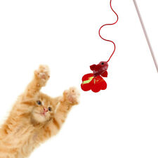 Pet Kitten Interactive Fish Shape Teaser Fun Toy Wire Chaser Wand For Cat Toys