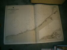 Vintage Admiralty Chart 2147 FRANCE - RIVER DURDENT to CAYEUX + DIEPPE 1919 edn