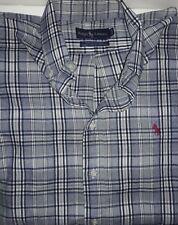 Men's 16.5-33 RALPH LAUREN Plaid Button Down Long Sleeve Shirt