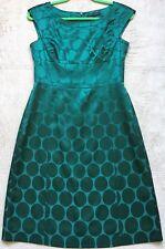 Banana Republic Green Sheath Dress, Size 2, Polka-Dot Pattern, Sleeveless, Shiny