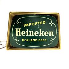 """Vintage 12"""" Light-Up Heineken Beer Tabletop Backlit Electric Sign (Plastic)"""