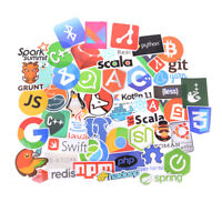 50Pcs Internet Java JS Programming Language Doodle Stickers For Laptop Car EF