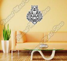"Clown Owl Mask Illuminati Freemasonry Wall Sticker Room Interior Decor 18""X25"""