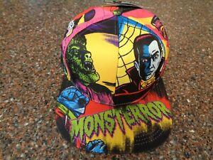 Bioworld Universal Monsters Neon Snapback Hat Adult Adjustable OS NWT Monsterror