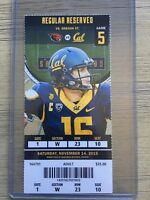 2015 CAL Bears College Football Mint Ticket Stub - pick any game! inc Jared Goff