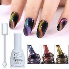4pcs/set Nail Art Chameleon Soak Off UV Gel Polish & 3D Cat Eye Magnetic Stick