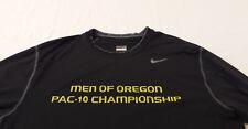 Men of Oregon DUCKS Nike PAC 10 CHAMPIONSHIP Team Issued LONG SLEEVE SHIRT Large