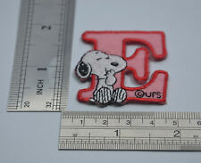 "LETTER E SNOOPY ALPHABET 1 1/2"" 4cm Sew Iron on Cloth Patch Applique Embroidery"