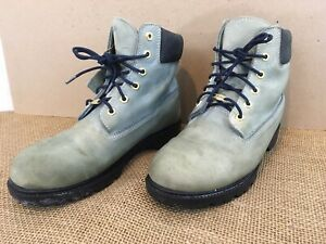 Timberland Womens 10M Light Green Leather Waterproof Lace Up Hiking Boots