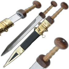 Handmade Medieval  Roman Gladius Legion Gladiator Historic Arena Brass Sword