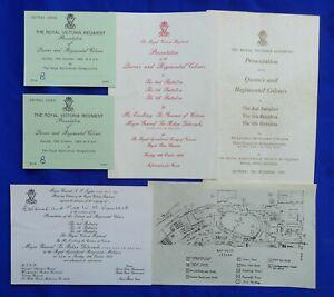 INVITATION: ROYAL VICTORIA REGIMENT PRESENTATION OF QUEEN'S & REGIMENTAL COLOURS
